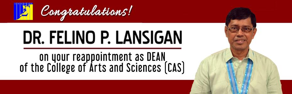 Congratulations Dean Lansigan!