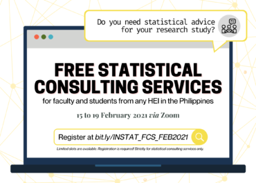 Free Statistical Consulting Services on February 2021